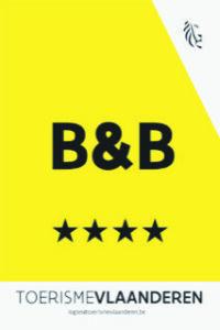 B&B erkenningsschild 4 sterren
